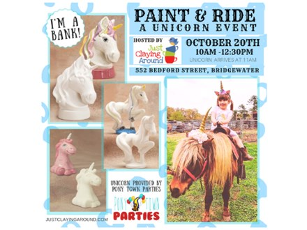 Paint and Ride Unicorn Event - 10/20