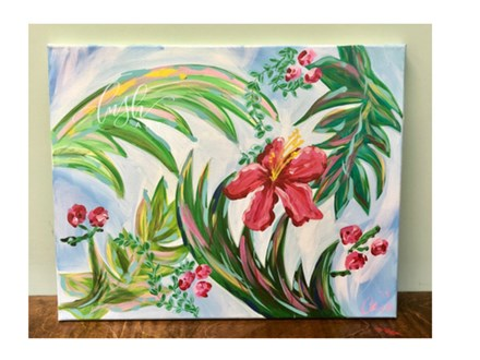 Tropical Leaves Paint Class
