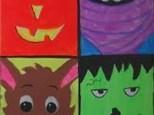 October Kids Canvas Class