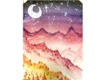 Moonset Mountains