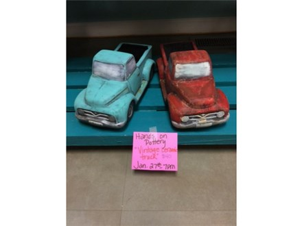 Hands on Pottery - Vintage Ceramic Truck - January 27th