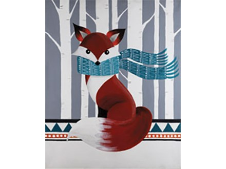 Woodland Fox Canvas Class at CozyMelts