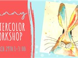 Pottery, Paint, & Wine Watercolor Workshop 3/29 @ The Pottery Patch