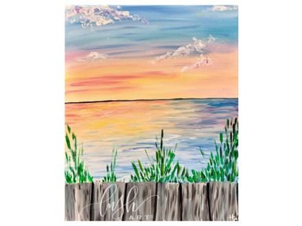Sunset Dock Paint Class