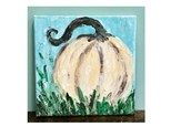 Pallet Knife Pumpkin Paint @ Just Tap'd