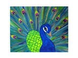 Paint & Sip - Pretty Peacock- Jan. 18 - 7:30 PM