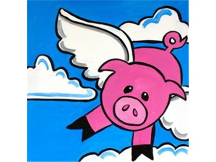 """Canvas & Cones """"When Pigs Fly"""""""
