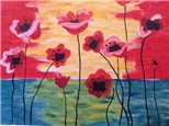 Canvas & Wine Night! Poppies in Bloom! 7/13/17