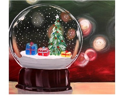 Snowglobe - Canvas - Paint and Sip