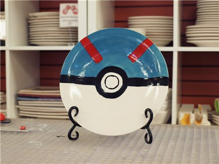 Kid's Pottery - Pokeball Plate - Afternoon Session - 01.30.19