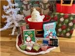 Snowman Christmas Bucket - Rocky Mountain Chocolate Reindeer Apple Included!
