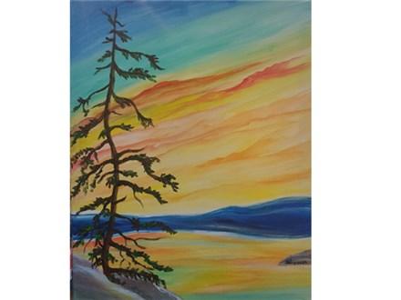 Tahoe Sunset Tree