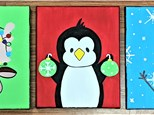 8 x 10 Acrylic Painting Canvas Take Home Kits