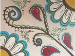 "Canvas Night ""Paisley Flowers"" Saturday, April 23rd 7-10pm"