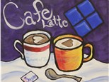 Cafe Latte Canvas Painting