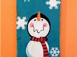 Kid's Drop Off Class -Snowman Board Painting