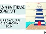 Pottery Patch Camp Thursday, 7/11 (10:30-NOON) BOARD ART: Make Us A Lighthouse