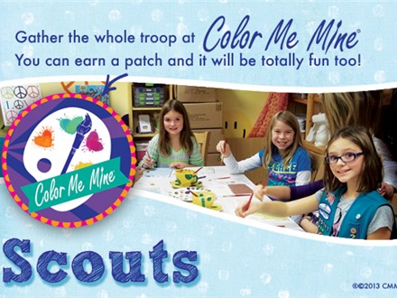 Scouting at Color Me Mine - Plano