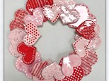 Heart wreath at KILN CREATIONS