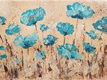 Painting Blue Poppies