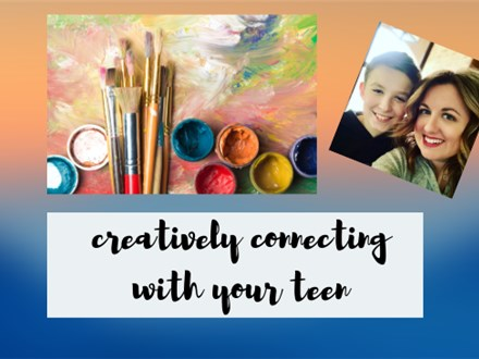 Creatively Connecting: Paint with your Teen Paint Class