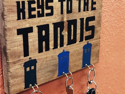 Kid's Board Art - Keys to the Tardis - Morning Session - 12.26.18