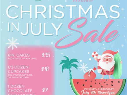 Christmas in July Pop Up Treat Sale