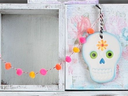 The Day of The Dead Skull Ornament Painting Kids Night Out ( Friday, Nov 1 from 5:30-8pm)at Color