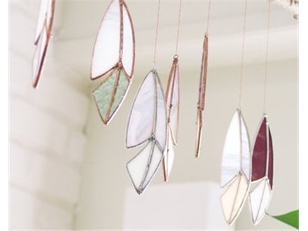 Stained Glass Feather Mobile