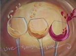11/2 Wine Glass Paint & Sip Night - PRIVATE GROUP (Leah)