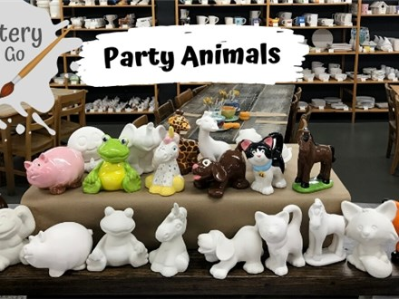 Pottery to Go Party Animals