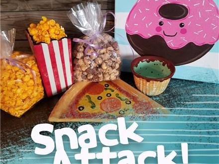 Snack Attack Ceramic & Canvas To Go Kit!