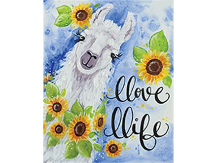 Llove Llife Canvas Painting Class at CozyMelts