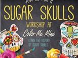 Adult Sugar Skull Workshop at Color Me Mine - Henderson, NV 10/18/18