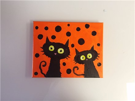 Scaredy Cats (mommy/daddy and me ages 4+) Canvas Class