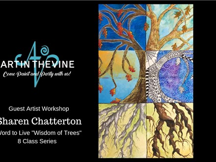 GA: Wisdom of the Trees (Mix Medium Journal Series) 10AM ($40) $240 Aug