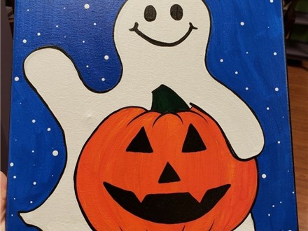 Art Club: Ghost in a Pumpkin Patch