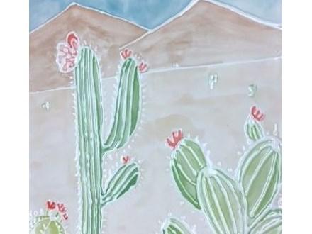 Pottery Painting - Bumpy Doodles Cactus Platter - 07.07.17