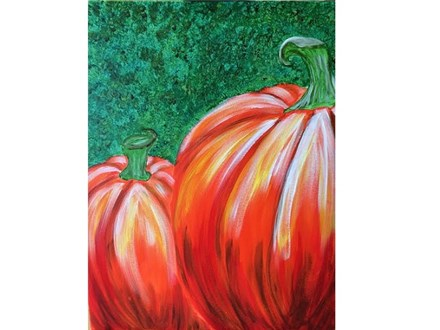 Canvas & Wine Night!  Pumpkin Patch!  10/20/16