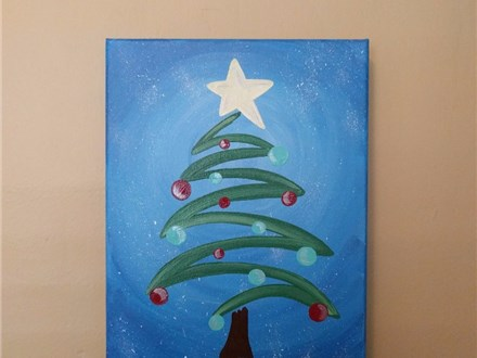 $30 Christmas Tree Paint Class (Toni) 12/6 6-9PM