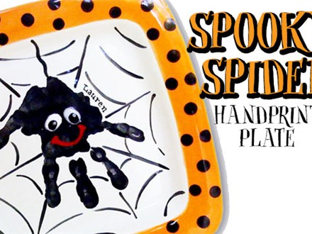 Spooky Spider Handprint Plate Workshop - October 6