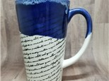 Tall Latte Mug - Ready to Paint