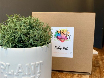 PoGo Kits: Paint Your Own Pottery TOGO! (Plant Lady)