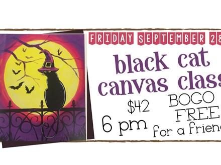September 28th Black Cat Canvas Class