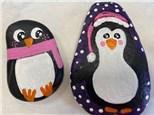 Penguin Rock Painting Class - Black Friday November 26th
