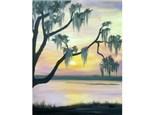 Summer Marsh Sunset (16x20 canvas)