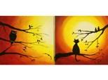 Happy Owl-oween or Love Birds Option (16x20 canvas)