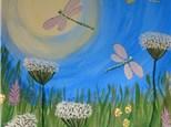 Spring Flower Canvas Painting @ Tewksbury Knights