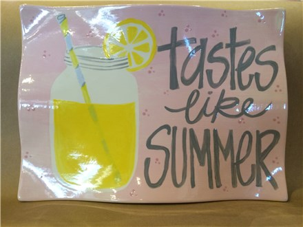 "Pottery Painting Night, ""Taste Like Summer Platter"", Sat. May 16th 7-10 p.m."