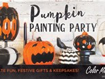 Pumpkin Painting Party at Color Me Mine Wayne